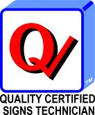 Quality Certified Signs Technician Q-Check logo